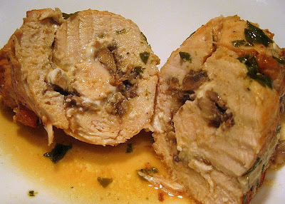 Chicken Breasts Stuffed With Goat Cheese And Mushrooms