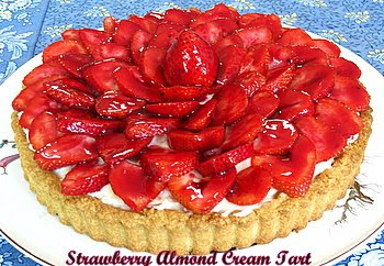 Strawberry Almond  Cream Tart