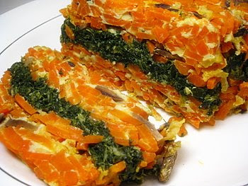 Colorful Carrot And Spinach Loaf