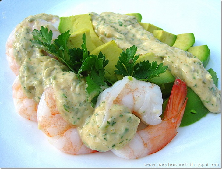 Shrimp And Avocado Salad With Creamy Dressing