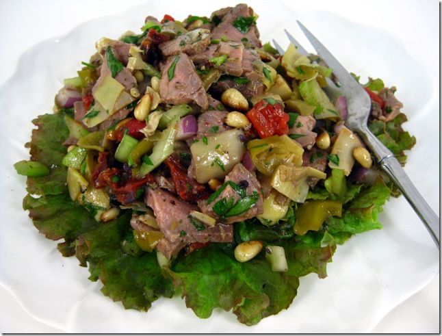 Clean-Out-The-Fridge London Broil Salad