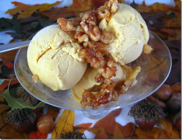 Butternut Squash Gelato With Candied Walnuts