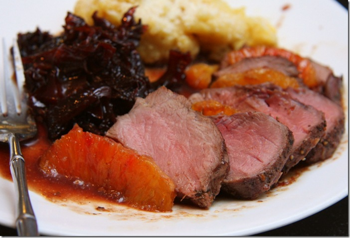 Venison Tenderloin With Pomegranate-Orange Sauce