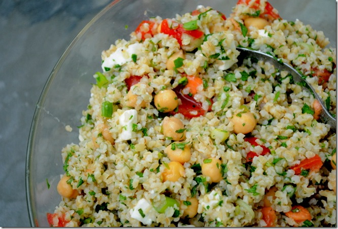 Bulgur Chickpea Salad