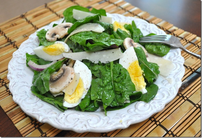 Lawn To Food And A Spinach Salad