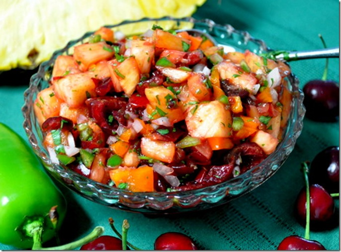 Pineapple-Cherry Salsa