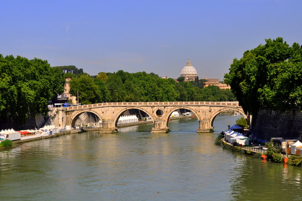 Ponte Sisto And St. Peter's In Distance