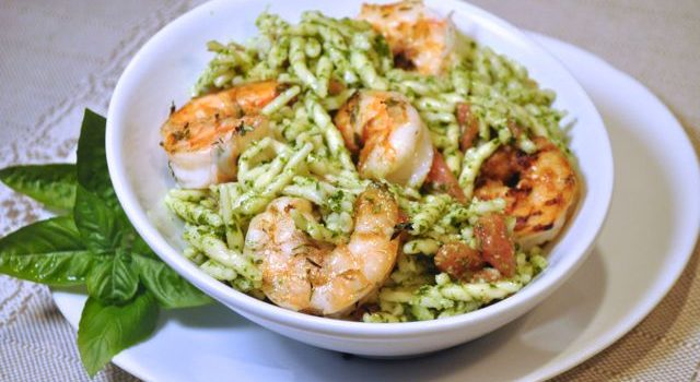 Grilled Shrimp With Pesto Pasta