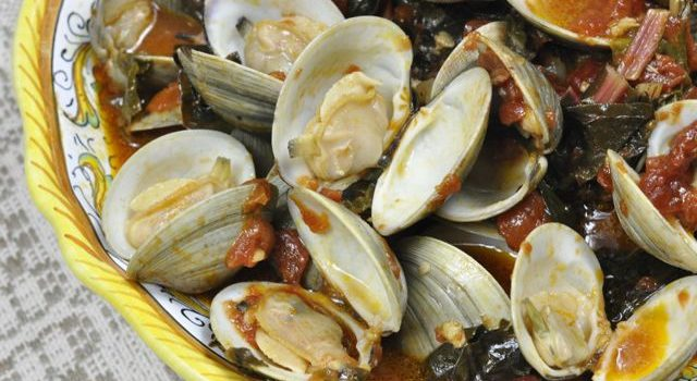 Clam Stew With Greens And Tomatoes