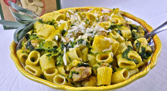 Mezzi Rigatoni With Sausage And Butternut Squash Sauce