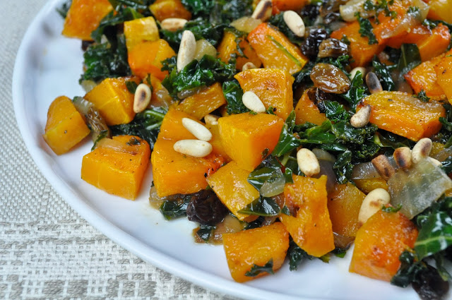 Butternut Squash And Greens