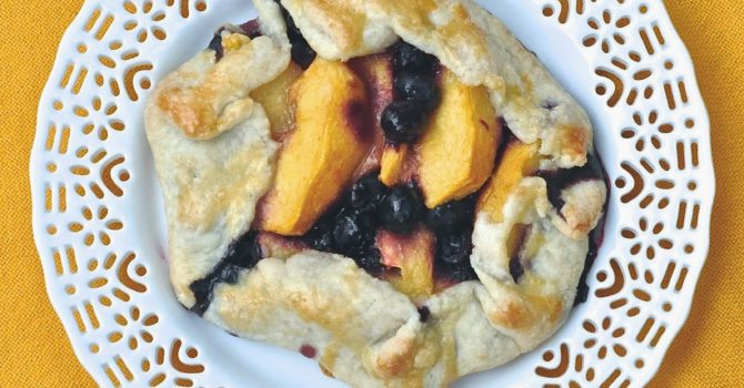 Peach And Blueberry Crostatas