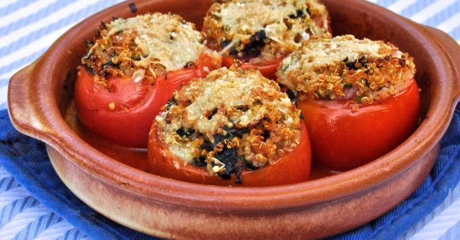 Baked Tomatoes Stuffed With Quinoa