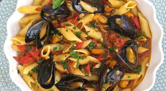 Penne Pasta With Mussels