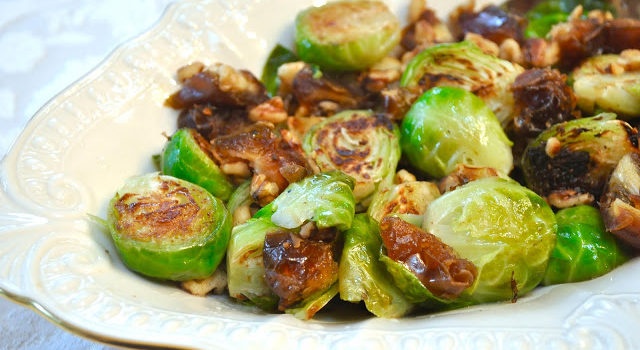 Brussels Sprouts With Dates And Walnuts