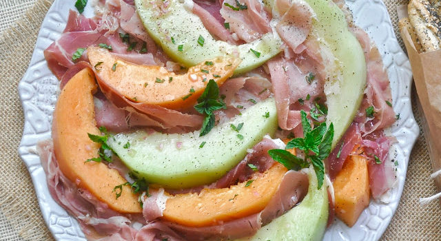 Summer Melon Salad With Prosciutto And Mint Vinaigrette