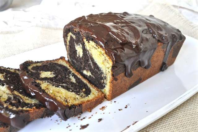 Chocolate Orange Marble Loaf Cake And A Giveaway