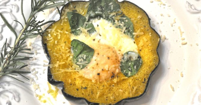 Egg Filled Acorn Squash