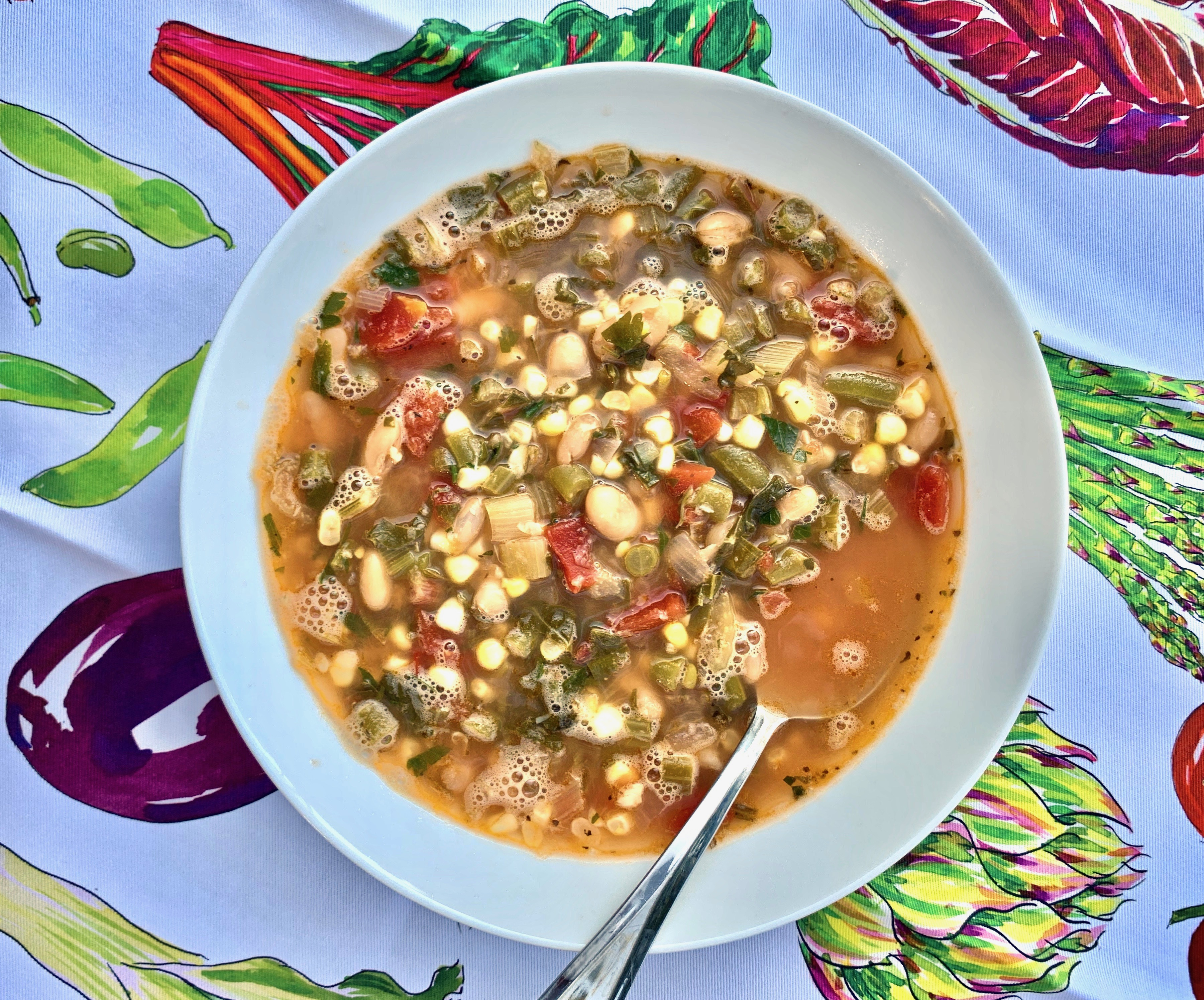 Vegetable And Swiss Chard Stalk Soup And A Giveaway