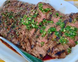 Flank Steak With Chimichurri Sauce And Potato Salad