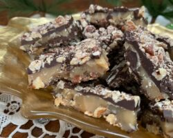Chocolate And Nut-Covered Toffee