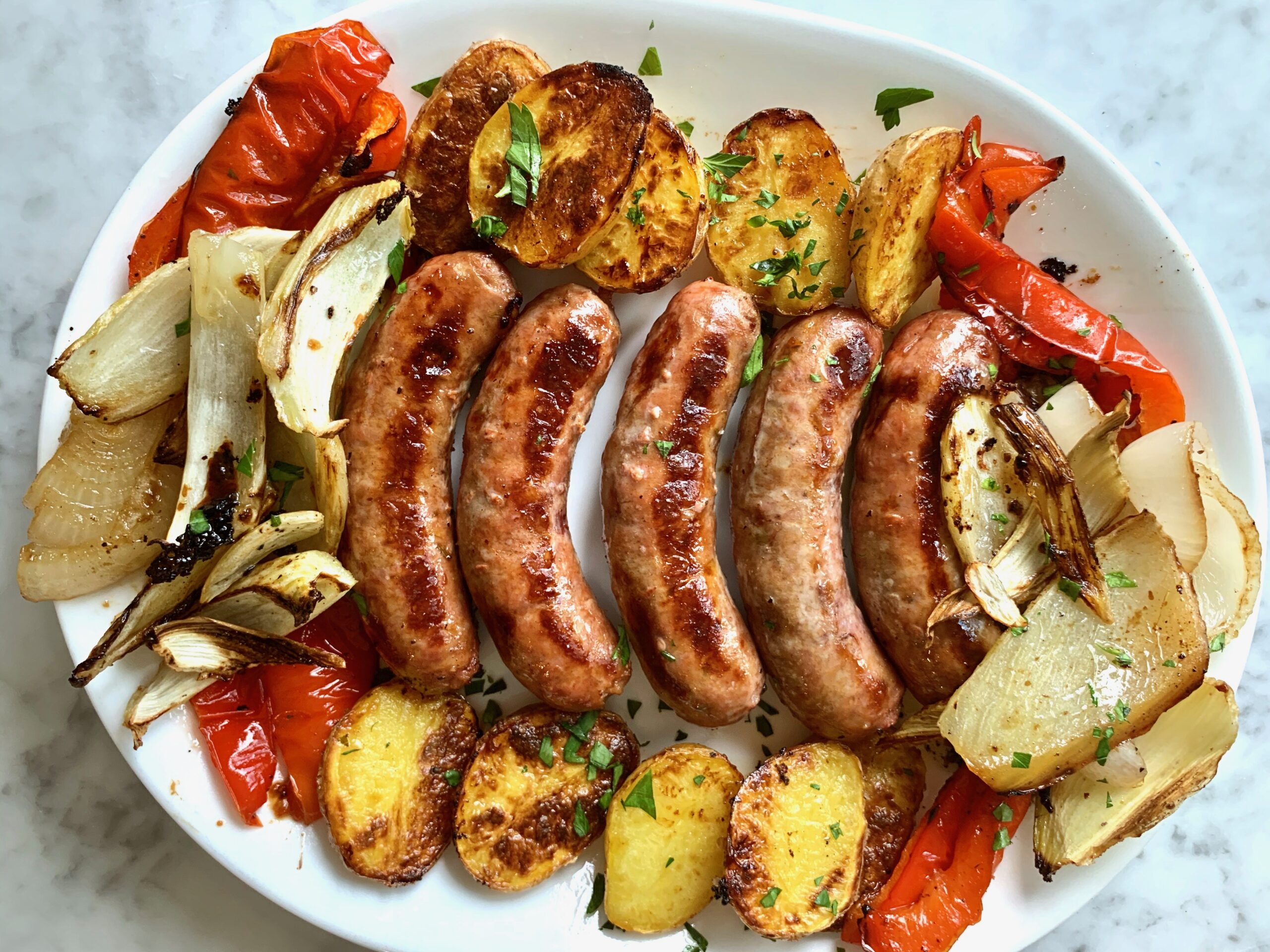 Easy Sheet Pan Sausage Dinner